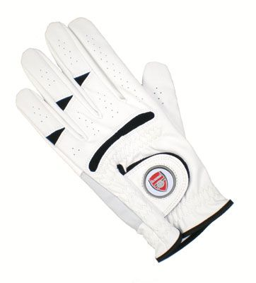 ARSENAL FC Golf Glove Left Hand (X-Large) with Magnetic Ball Marker. Official Licensed Arsenal FC Gift