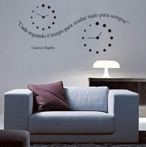 Adesivo Parede Frase - Cada Segundo é Tempo de Mudar Tudo Para Sempre
