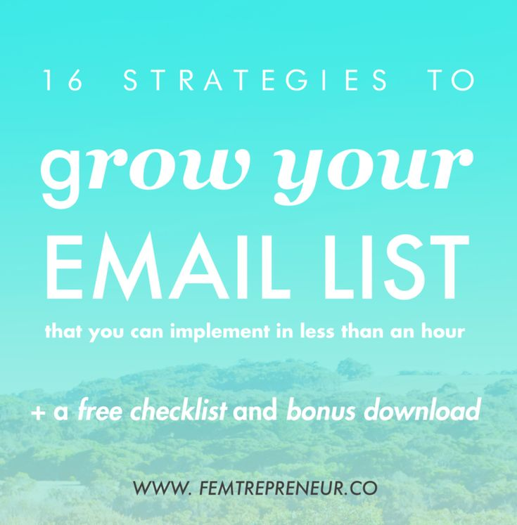 So, super helpful and legitimately useful! >> 16 Badass Strategies for Growing Your Email List (plus a free checklist and 3 bonus hacks) — FEMTREPRENEUR