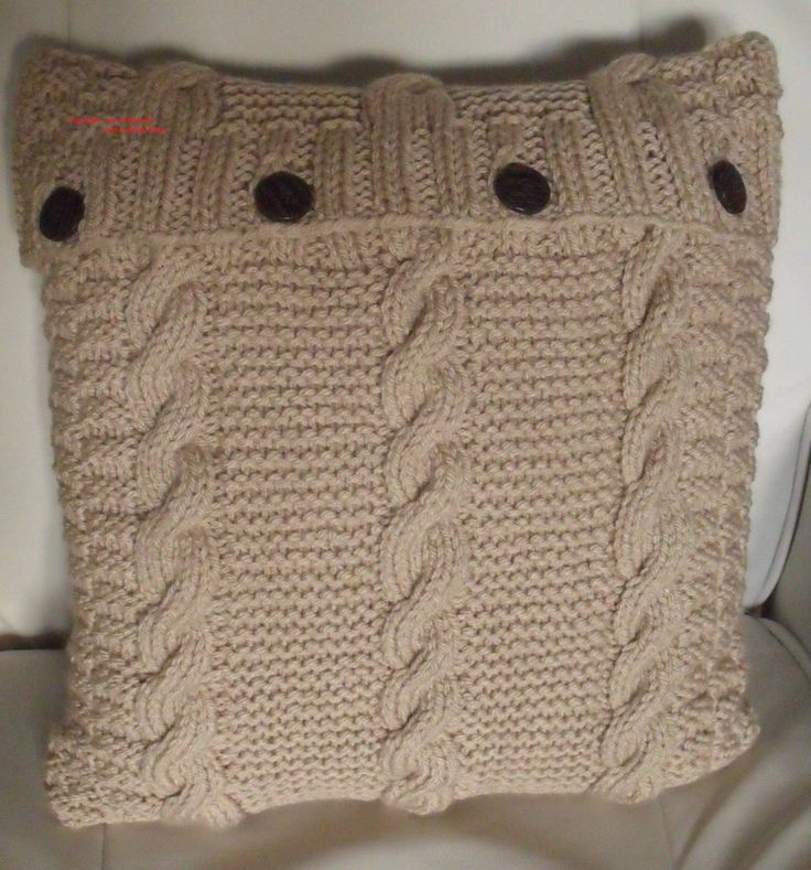 KNITTING PATTERN. LOVE CABLE CHUNKY CUSHION COVER. 40CMx40 CM b...