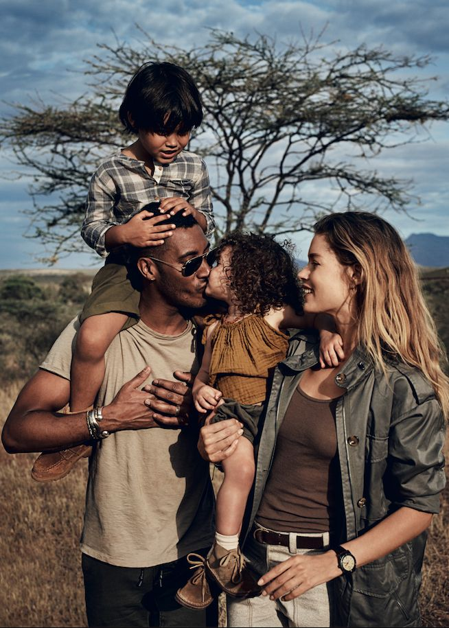 Photographs of Model Doutzen Kroes In Kenya With Her Family to Help Her Save the Elephants