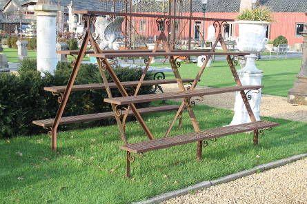 Achterhuis.nl   planten rek, rek om producten te tonen, 2 zijdig, zware degelijke constructie.