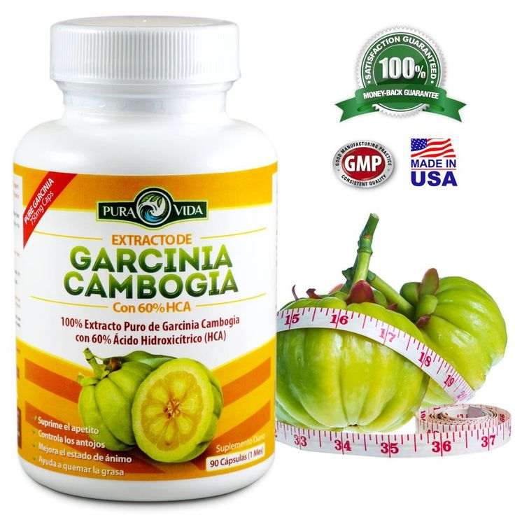 Extracto de Garcinia Cambogia - 90 Pastillas Con 60% HCA (1 Mes) - 100% Puro, Sin Calcio, Sin Potasio! / 90 Capsules with 60% HCA (1 Month) - 100% Pure, No Calcium, No Potassium! > Startling review available here  : Weight Management