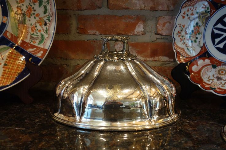 Antique English Silverplate Turkey Meat Dome Food Cover ...