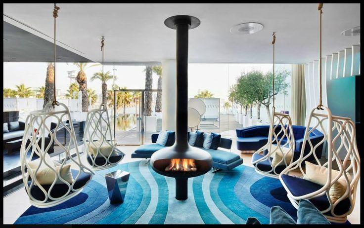 #cheminee #magmafocus foyer ouvert central à gaz #design contemporain
