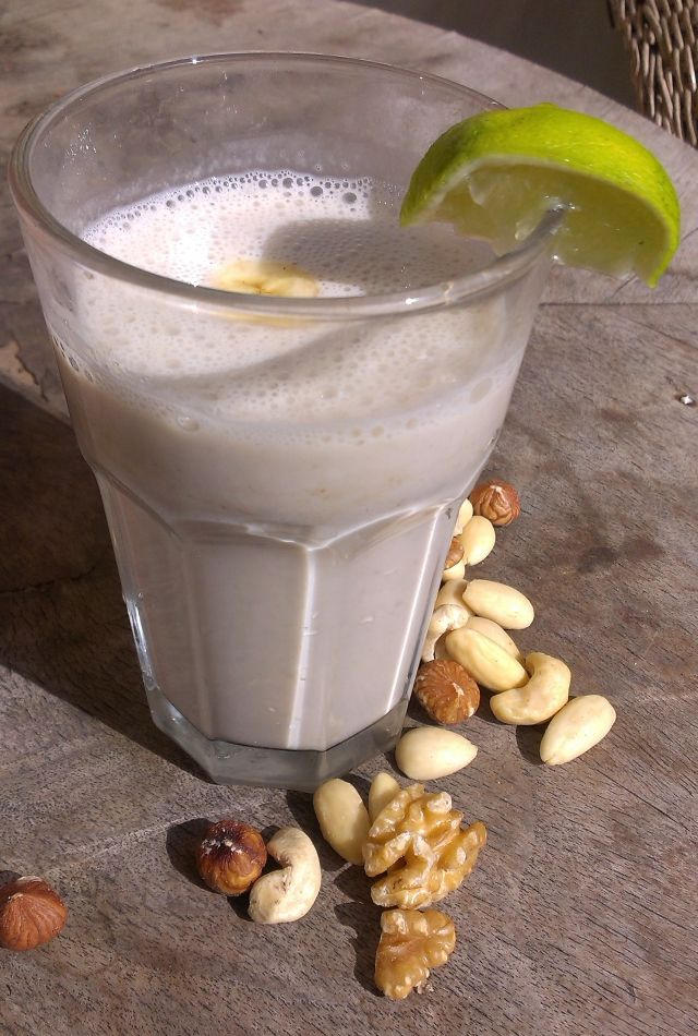 Soy cocktail with banana