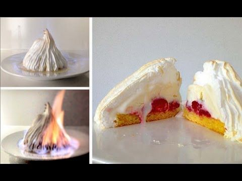▶ Flambe Bombe Alaska Dessert Recipe HOW TO COOK THAT Baked Alaska Recipe Ann Reardon - YouTube