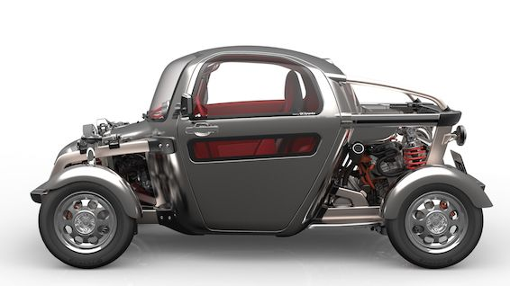 KIKAI makes the car's mechanical parts something to be seen and admired, rather than concealing them from view. The vehicle's inner workings have become part of the exterior in a design concept that breaks with convention.
