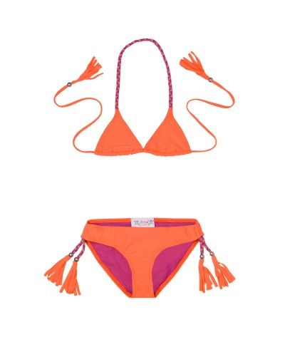 Maillot de Bain Anouk orange fluo