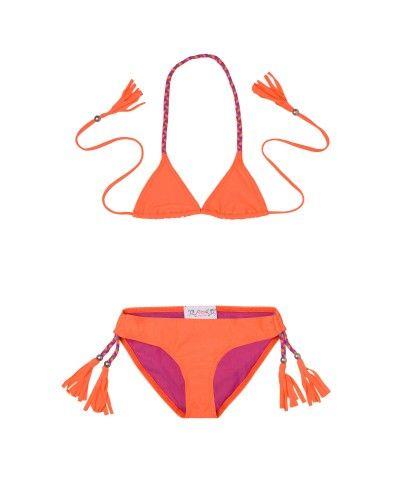 Maillot de Bain Anouk orange fluo