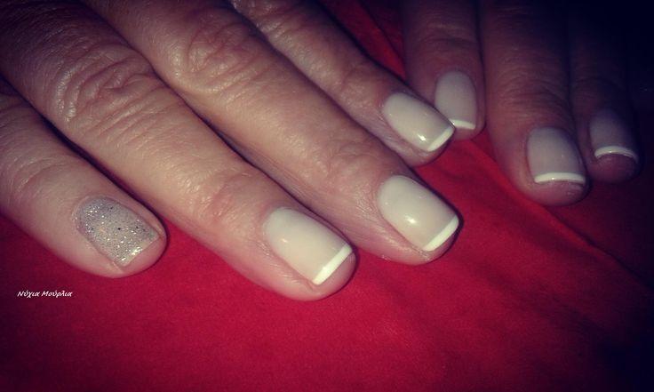 French nails ~glitter nails~longlasting nails
