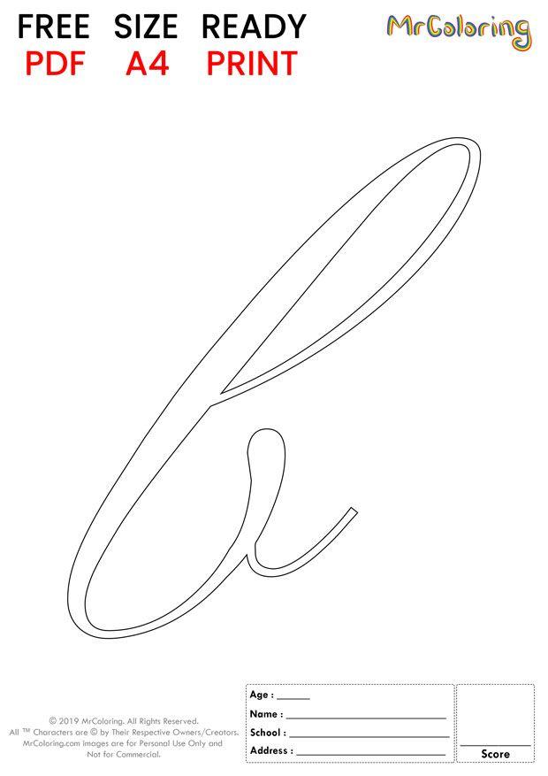 Alphabet Letter B Coloring Pages Lowercase Script For Kids Alphabet Letterb Color Letter B Coloring Pages Free Printable Alphabet Letters Lettering Alphabet