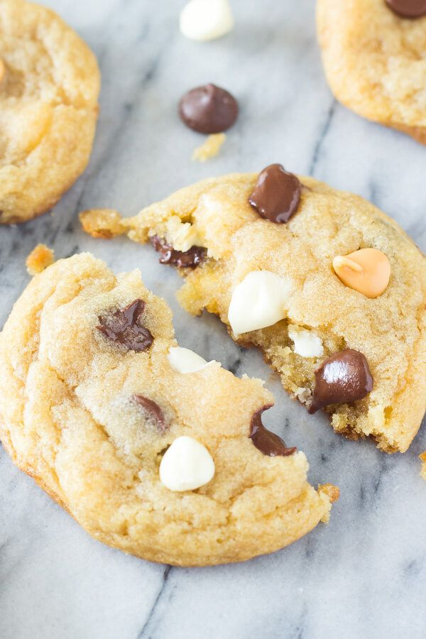 These Thin Chewy Chocolate Chip Cookies are soft, perfectly stackable, have a delicious caramel undertone, and have perfectly golden edges.