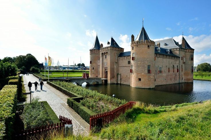 Castle Muiderslot ~ Amsterdam ~ The most beautiful and best kept medieval castle in the Netherlands.  You can even download their free app. to use as a guide when you visit, or take a virtual tour.  I went here on my trip to the Netherlands and I had a blast downloading the app and revisiting.  Hope you enjoy it too.  ~ wtb