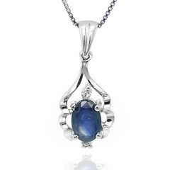Happy Camp Oval Cut Sapphire Pendant for R462.34