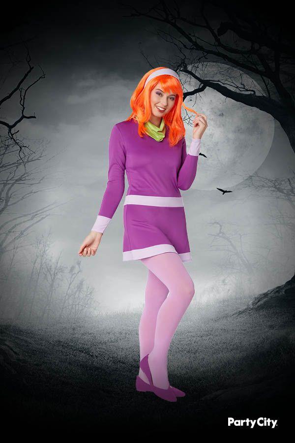 Dress /& Scarf costume Daphne Scooby Doo Mystery inc