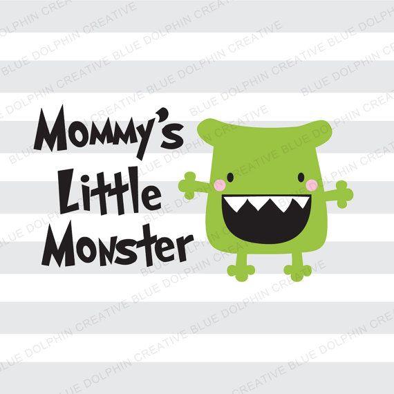 Png pdf jpg ai de mamá Little Monster SVG DXF / camisa de Halloween corta archivo / Cricut, archivo de corte de silueta / instantánea descargar