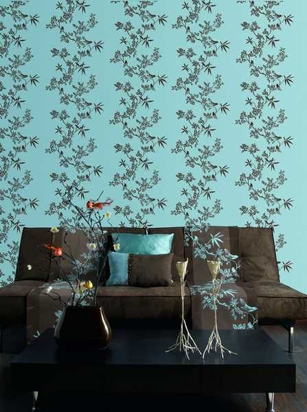 Im Loving The Wall Paper Stencil Paired With Table Decor