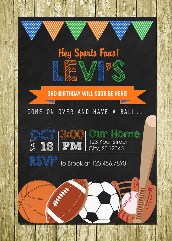 Sports birthday invitation sports invitation ball birthday invite sports birthday invitation sports invitation ball birthday invite sports party soccer birthday baseball digital file busy bees happenings birthdays filmwisefo Image collections