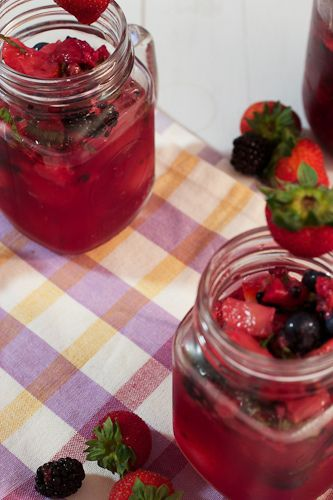 Mixed Berry Basil Lemonade | The Girl in the Little Red Kitchen