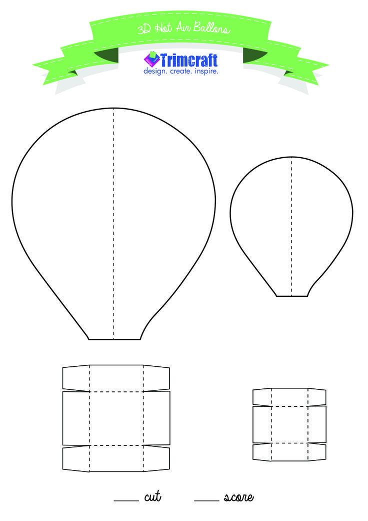 Spinning 3d Hot Air Balloon Craft For Kids