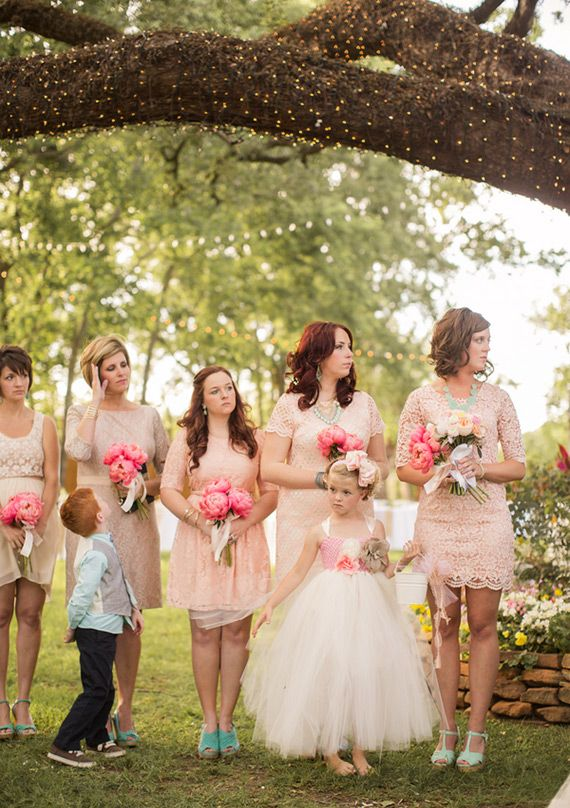 pink peony bridesmaid bouquet | photo by Jackie Ray Photography | 100 Layer Cake