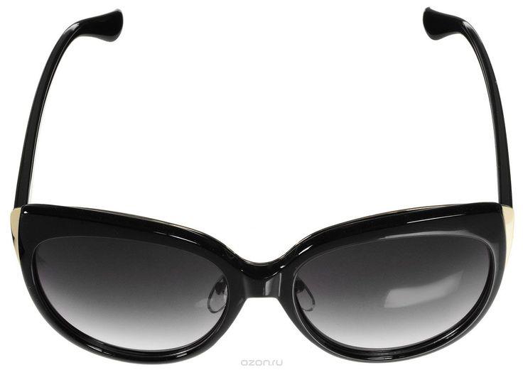Очки солнцезащитные женские Vitacci, цвет: черный, золотой. 178Стильные солнцезащитные очки Vitacci выполнены из высококачественного пластика с элементами из металла. Используемый пластик не искажает изображение, не подвержен нагреванию и вредному воздействию солнечных лучей. Оправа очков легкая, прилегающей формы, дополнена носоупорами и поэтому обеспечивает максимальный комфорт. Такие очки защитят глаза от ультрафиолетовых лучей, подчеркнут вашу индивидуальность и сделают ваш образ…