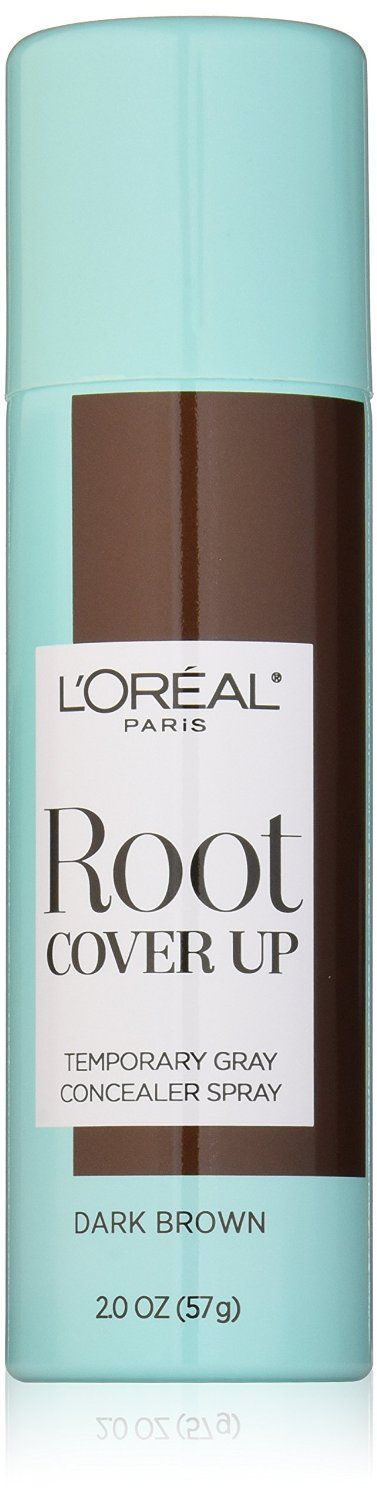 L'Oreal Paris Hair Color Root Cover Up Temporary Gray Concealer Spray, Dark Brown, 2 Ounce * Be sure to check out this awesome product.