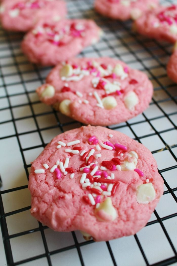 Looking for a new strawberry recipe? These Strawberry White Chocolate Cookies are the perfect easy dessert. These cookies are also the perfect Valentine's Day dessert.