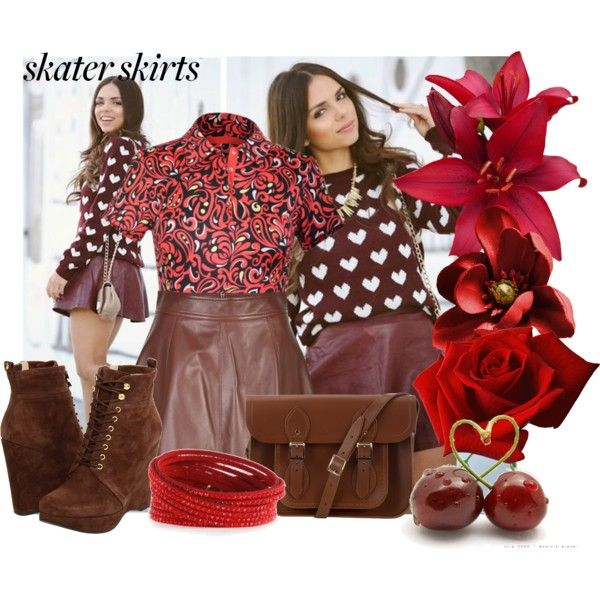 """""""skater skirt"""" by inculori on Polyvore"""