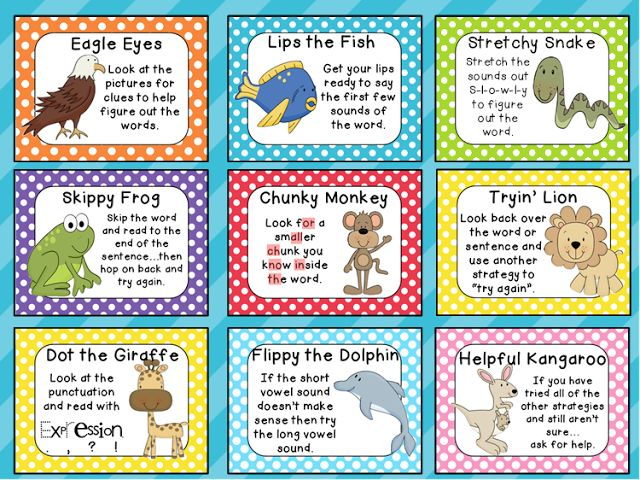 "reading strategies posters | The Kinder""garden"" Teacher: Beany Baby Decoding Posters"