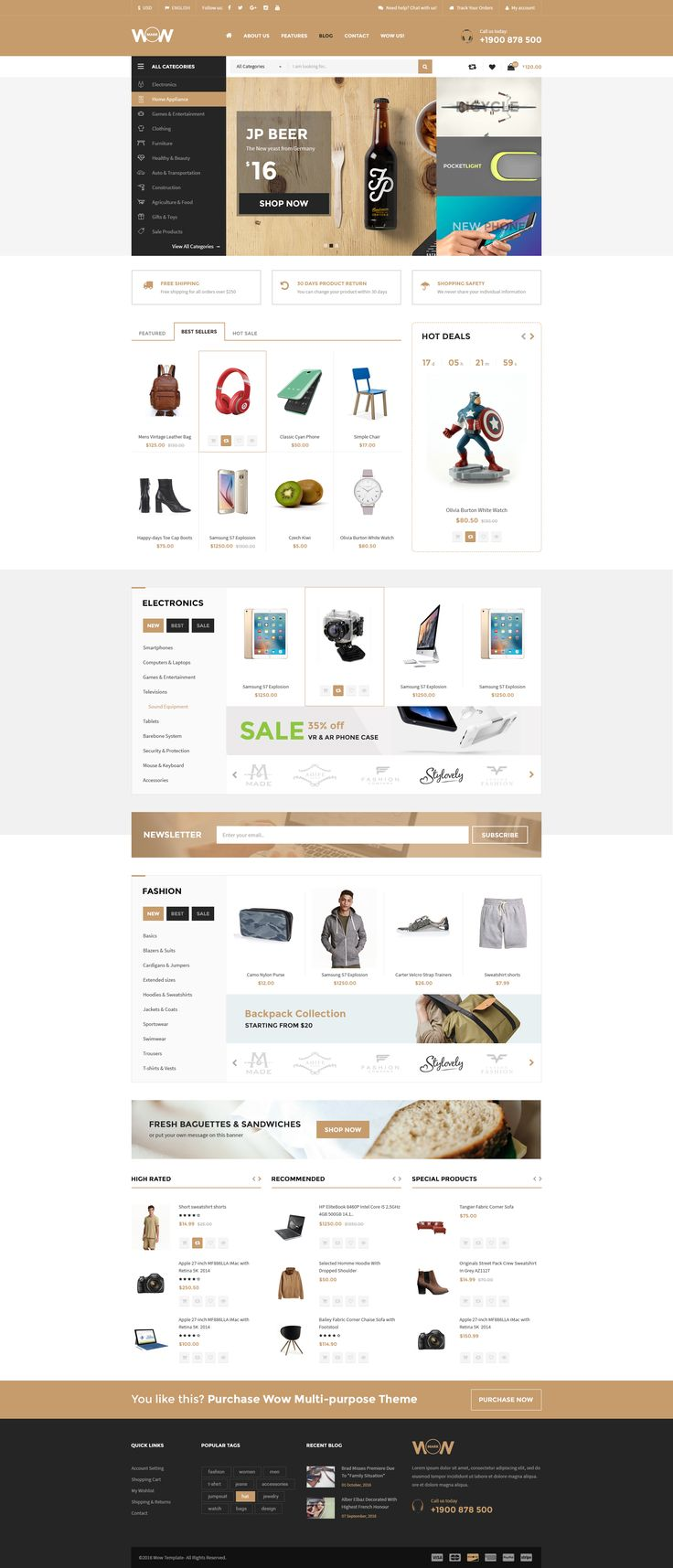 Wow - Multistore PSD Template Marketplace Index 01