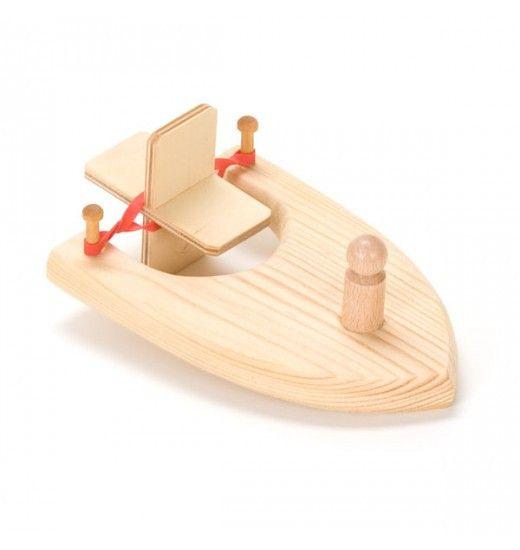 peg's paddleboat, wooden boat, toy boat