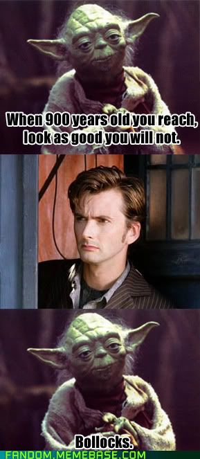 'In your face, Yoda,' said Doctor Who.