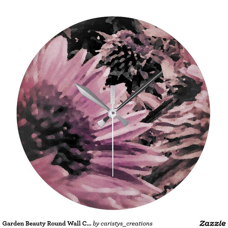 Garden Beauty Round Wall Clock