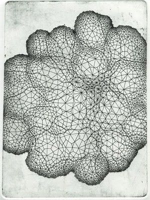 They have similar patterns inside the drawing and also has a feel of motion due to the lines twirling around each other.