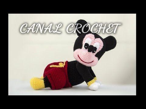 CANAL CROCHET: Bebe Mickey amigurumi, patrón libre.