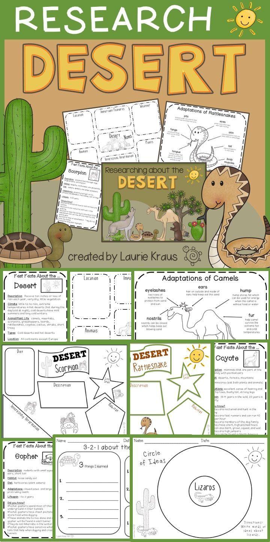 Desert Habitat Activities Desert animals, Activities