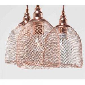 Copper Cluster Wire Pendant