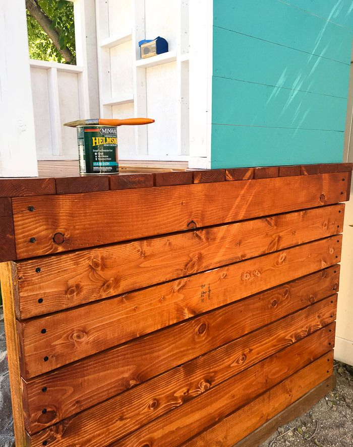 Stelzenhaus für Kinder im Garten selber bauen Anleitung