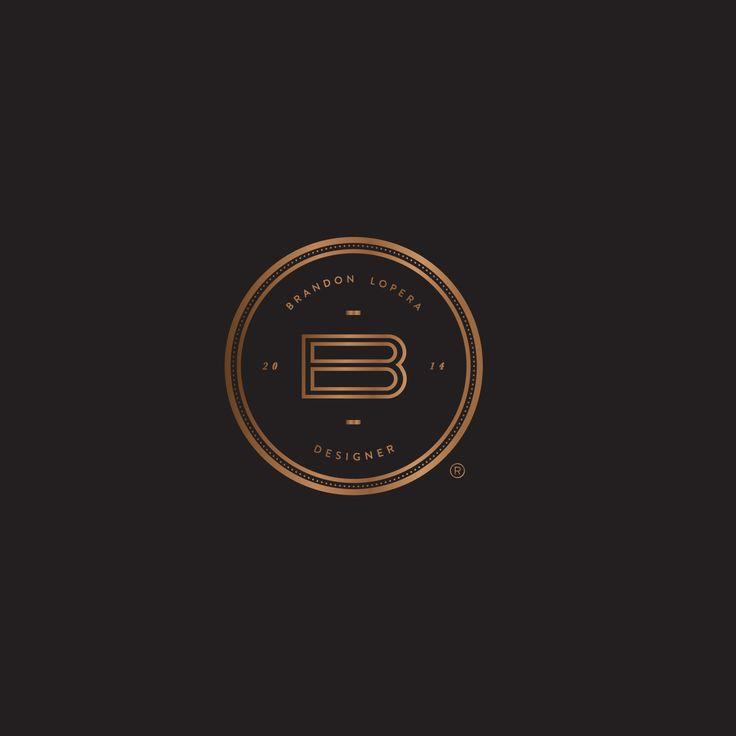 My personal branding logo #selfpromotion #selfbranding #self #copper #black #logo #brand #branding #design #designer #typography #love #fresh #sharp #cool #awesome #amazing #circular
