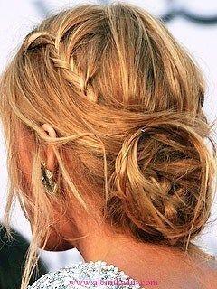 Örgülü Topuz Saç Modelleri 4