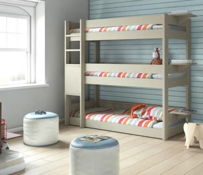 Las 25 mejores ideas sobre dormitorios de trillizos en for Camas triples baratas
