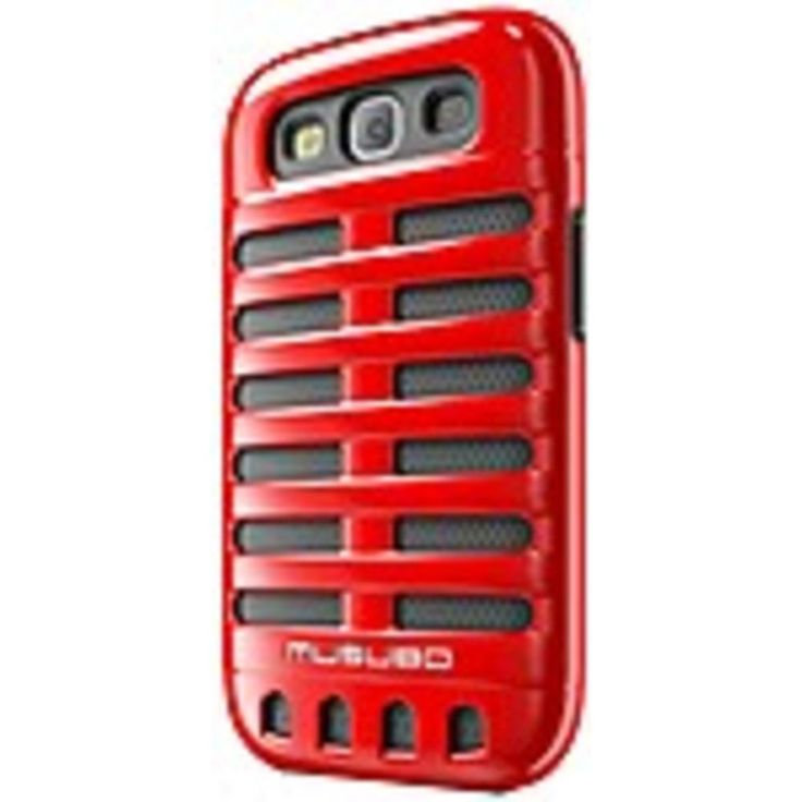 Smart IT Musubo Retro Case for Samsung Galaxy S3 - Smartphone - Red - Polycarbonate, Silicone