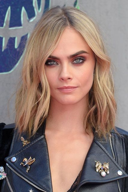 After: While promoting Suicide Squad this summer, she chopped her signature lengths for a long bob — and man, does it look rad. #refinery29 http://www.refinery29.com/2016/10/125600/new-celebrity-hairstyles-lob-trend-photos#slide-26