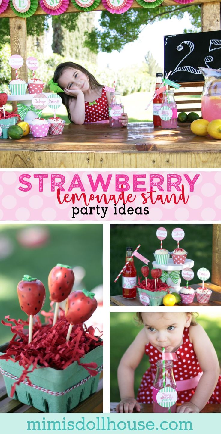 Strawberry Party: Strawberry Lemonade Stand Play Date