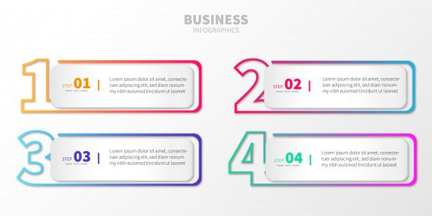 Download Colorful Step Business Infographic With Numbers For Free Business Infographic Infographic Graphic Design Photoshop