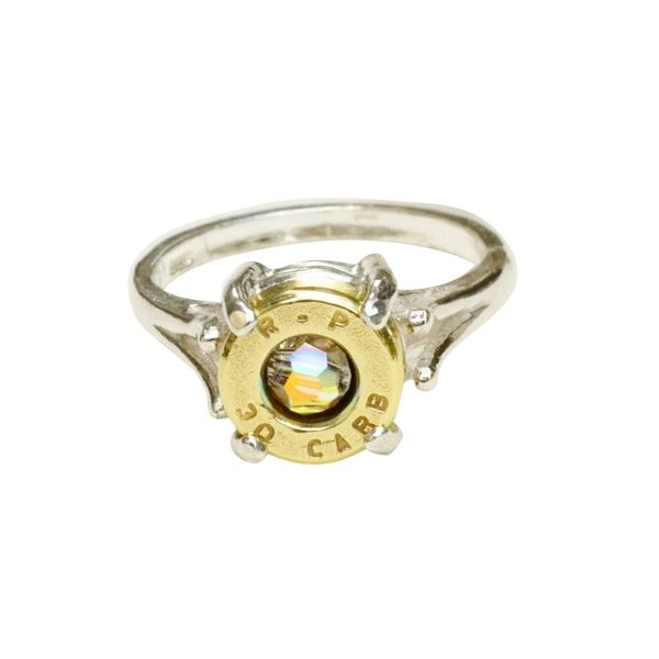 bullet casing + sterling silver ring