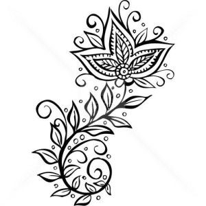 Mehndi Design which can be printed