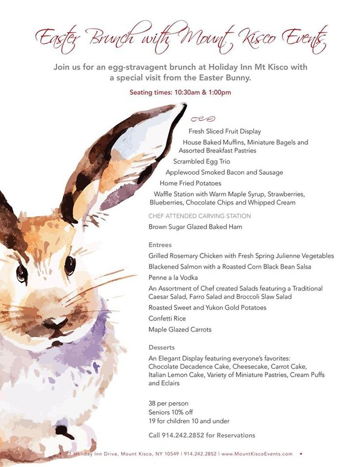 Do you have your Easter Brunch plans set yet? We do here at mount Kisco Events!!!
